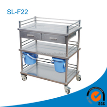three parts stainless steel cure trolley for stock