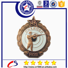High Quality Army Cap Metal Pin Badge for Sale