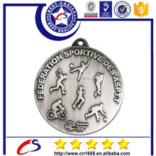 factory price quality Sport Metal Medal with silver Color, Custom metal Medal
