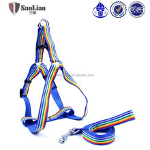 Nylon with sewing ribbon dog lead & harness