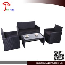 All weather rattan double sofa with cushion outdoor rattan garden furniture