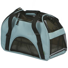 Blue Hot sell large size travel soft-sided Deluxe pet carrier