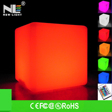 2014 hot sale low price waterproof color changing 30cm led cube chair/led light cube for pool/bar/garden/home decoration