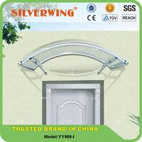 Popular design! outdoor polycarbonate aluminium rain protection for windows canopy size 900x1400mm