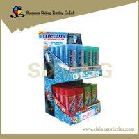 2 tier cardboard market mentos counter display box