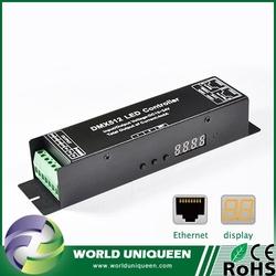 3 Channel DMX512 Decoder with Digital Display, DC12V-24V, 4A/CH, 3 Channel Digital Display DMX512 Decoder for LED Control