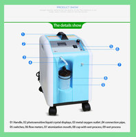 6. MIC high output mini portable oxygen concentrator High purity oxygen 93% with lower energy consumption & Low noise