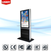 Pop guidance 3g\/wifi interactive touch screen digital signage price led backlight with multi points touch