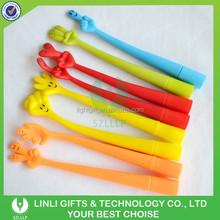 Cute Designed Pure Color Fingers Rubber Ball Pen,GEL Pen