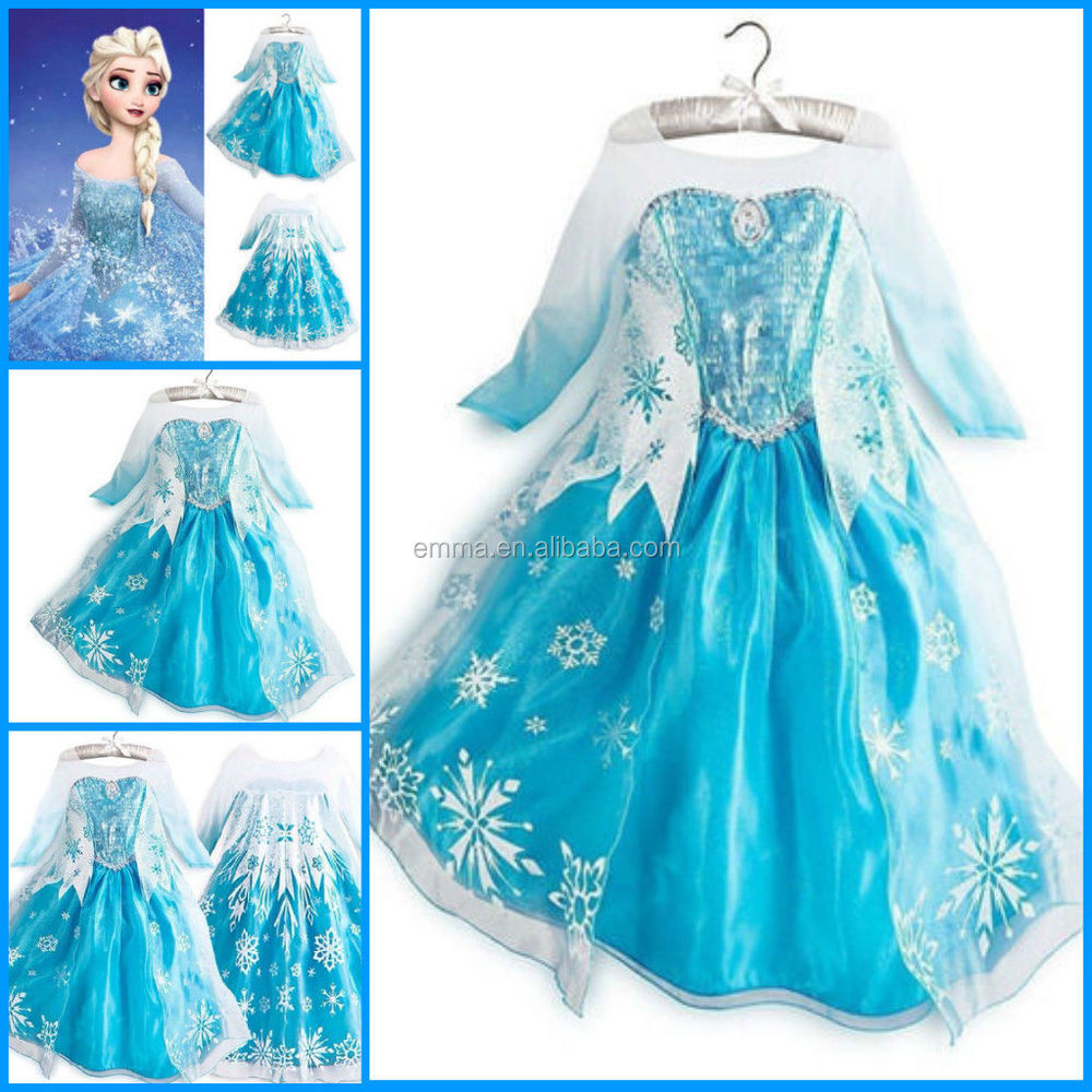 BC186 BC185 BC243 BC242 BC241  sc 1 st  Alibaba & Hot Sales Frozen Elsa Costume Girls Princess Elsa Dress Cosplay ...