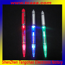 2014 make led flashing ballpoint pen with light