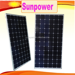 sunpower 200w 300w mono solar panel wholesale price from China manufacturer
