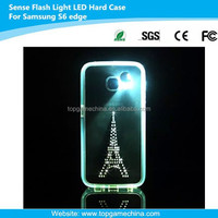 Sense Flash LED Light Color Changing Case Cover for Samsung galaxy s6 edge