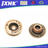 custom metal brass press jeans studs rivets button with logo