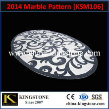 KSM106 Top Polished Round Marble Pattern for Hotel Lobby