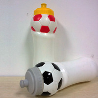 2014 football water containers plastic material picnic outdoor sports bottle wholesale