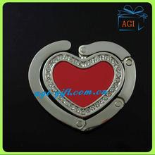 high quality foldable bag hanger heart