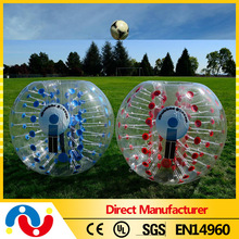 Custom color cheap bumper ball/human inflatable bumper bubble ball toy