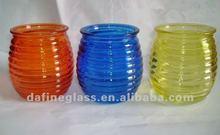 Alta calidad y color distintivo de spiricle portavasos vela / frasco de vidrio