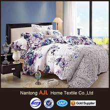 Double sides floral design printed high quality bed linen brands