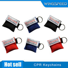 disposable face mask one way breathing valve cpr face shield keychain