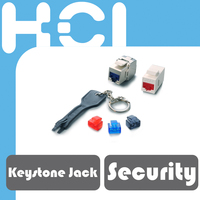 Taiwan Supplier RJ45 Female Connector Security Port Lock and Key for Data Center