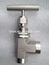 ss316 angel de la aguja de la válvula para el petróleo y el gas