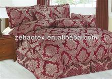 Hot burgundy colored floral patchwork jacquard bedroom adult being duvet comforter sets