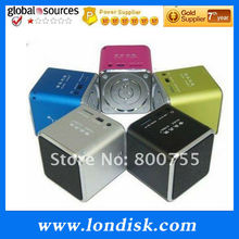 Mini USB cube speaker music angel speaker / Assorted Colors with TF card mp3 FM Radio Player Computer cell phone music Speaker