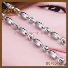 Fashion nickel plated bar metal necklace ball chains