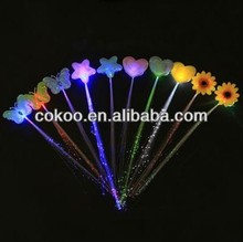 fashion electronic hair accessory LED hair clip gleamy butterfly hairpins/led hair extension