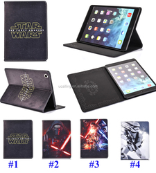Popular Movie Star War Color Printing Stand PU Leather Case For iPad mini 2 3