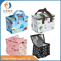 cheap laminated non woven picnic basket inner cool lunch bag