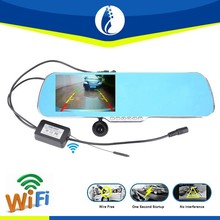 5.0inch wire free Android 4.1 system wireless wifi GPS rear view mirror car monitor