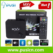 Facotry Supply Cheapest Android 4.4 quad core tv box MXV Android 4.4 1GB RAM 8GB ROM Amlogic S805 Internet TV MXQ
