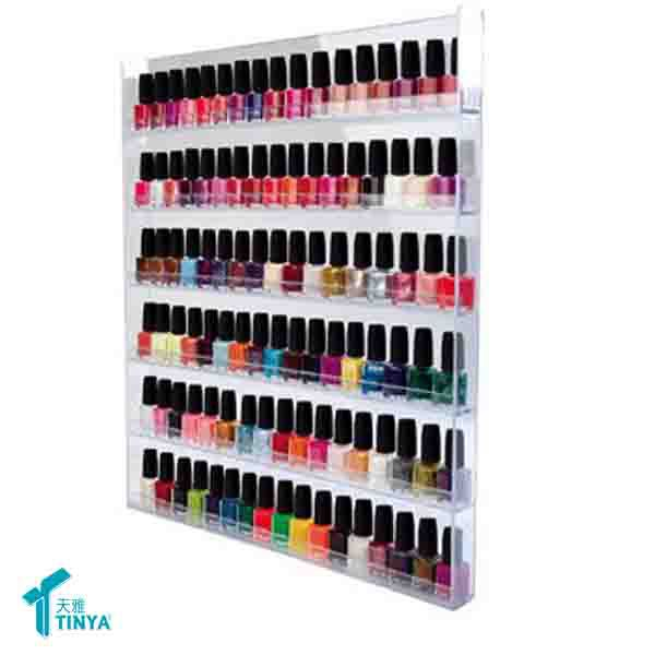 Plastic Clear Acrylic Wall Mount Nail Polish Display Stand - Buy ...