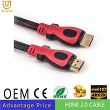 HDMI Cable 1m (1.5m 1.8m 2m 3m 5m 10m 15m 20m 25m 30m) 1.4v for 3D HD 1080P support 4K 1080p ethernet