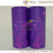 luxury printing round paper 4 c printing tube can for tea caddy packing