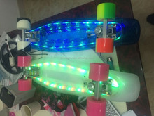 nickel board skateboard/original penny board skateboards with flash