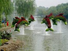 fake grass animal entertainment/park Life-like artificial grass topiary