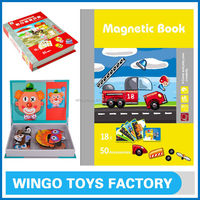 Magnetic kids paper puzzles and game toys for children