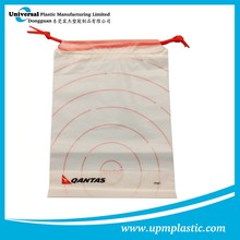 Eco-friendly biodegradable Disposable plastic LDPE drawstring bag