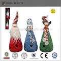 de resina baratos led de luz de navidad muñeco de nieve de la decoración