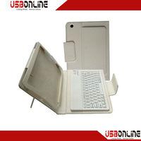 NEW Wireless Bluetooth Keyboard Leather Case For Mini ipad White