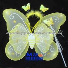 Wholesale butterfly wand and wings Fairy Costume Sets Butterfly Girls Fairy Halloween Costume Wings , Free Shipping