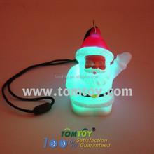 Wholesale Glow Pendant Led Christmas Light Necklace With Santa Claus