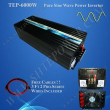 6000w Sine Wave Power Inverter 12vdc to 220v ac , 6kw solar inverter