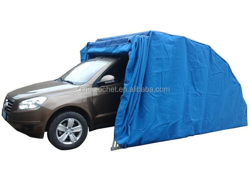 Instruction To Set Up A Portable Carport : Folding garage car cover shelter parking shelters