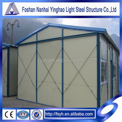 temporary prefab house buildings slope roof house