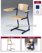Durable child wooden school chair with popular write board
